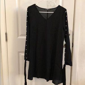 Pearl Sleeve Dress